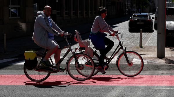 File Photo: People ride bicycles on a new cycling lane. (Representational Image) (REUTERS)