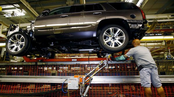 A worker at the assembly line at the General Motors Assembly Plant in Arlington, Texas, June 9, 2015. (File photo used for representational purpose). (REUTERS)