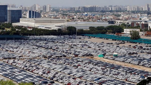 File photo: Cars are seen parked at Maruti Suzuki's plant at one of its plants in Haryana. (REUTERS)