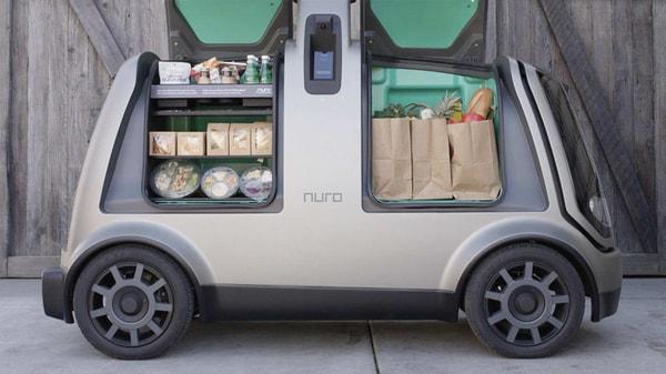 Autonomous vehicles, like this Nuro driverless car, can beat coronavirus lockdown to deliver goods. (Photo courtesy: nuro.ai)
