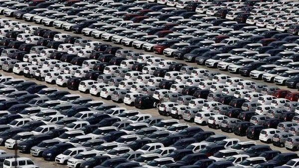 Cars are seen parked at Maruti Suzuki's plant at Manesar, in the northern state of Haryana, India, August 11, 2019. Picture taken August 11, 2019. REUTERS/Anushree Fadnavis/Files (REUTERS)