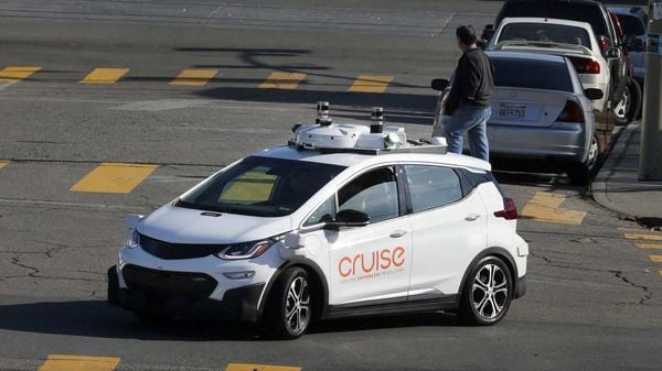 FILE PHOTO: A self-driving GM Bolt EV is seen during a media event where Cruise, GM's autonomous car unit, showed off its self-driving cars in San Francisco, California, U.S (REUTERS)