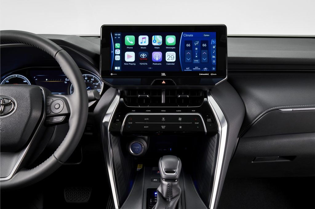 There is a 12.3-inch infotainment touchscreen in the Venza's cabin, much like the Harrier.