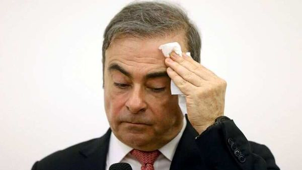 FILE PHOTO: Former Nissan chairman Carlos Ghosn attends a news conference at the Lebanese Press Syndicate in Beirut, Lebanon January 8, 2020. (REUTERS)