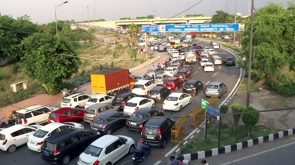 Heavy traffic congestion seen at ITO and Yamuna Bridge area during the fourth phase of nationwide lockdown to curb the spread of coronavirus, in New Delhi.