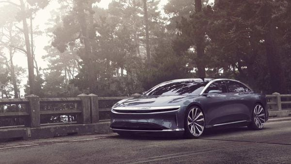 The debut Air model, which is expected to sell for more than $100,000, can be ordered online. Photo courtesy: Lucid Motors