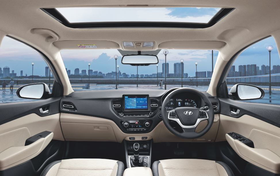 2020 Hyundai Verna gets a lighter dual-tone colour scheme on the inside.