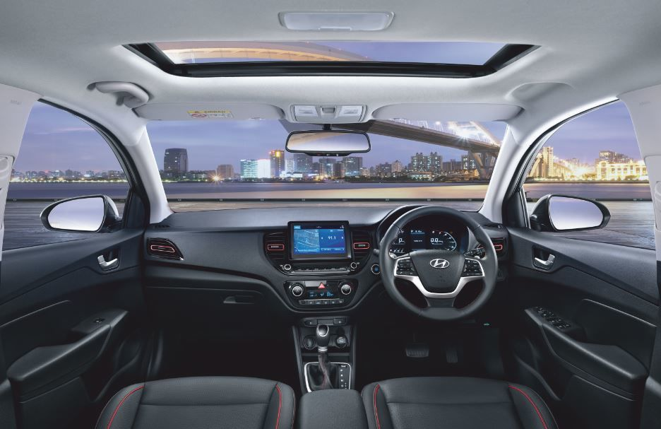 2020 Hyundai Verna Turbo, however, gets all-black interiors.