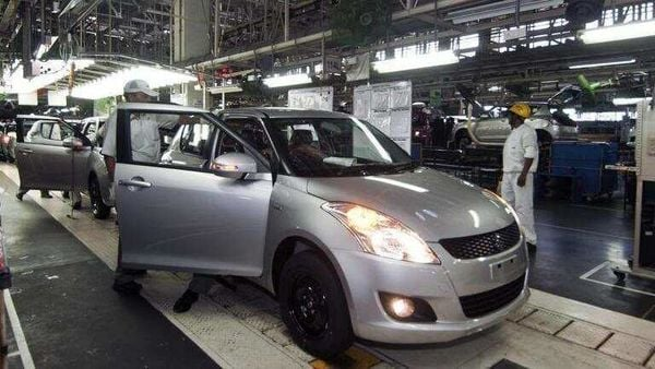 The facility at Hansalpur, Gujarat produces two of Maruti's popular models, Baleno and Swift. (File photo)
