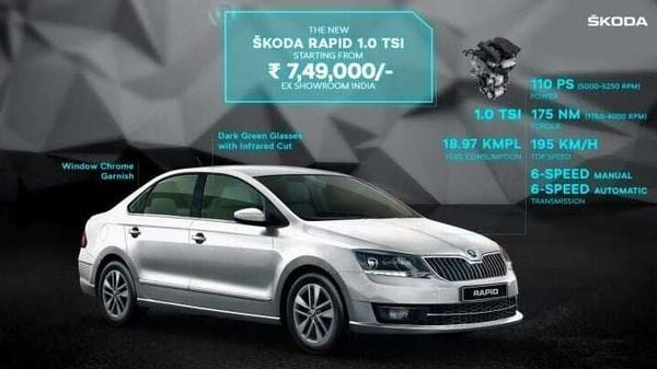 2020 Skoda Rapid 1 0 Tsi Launched In India At 7 49 Lakh