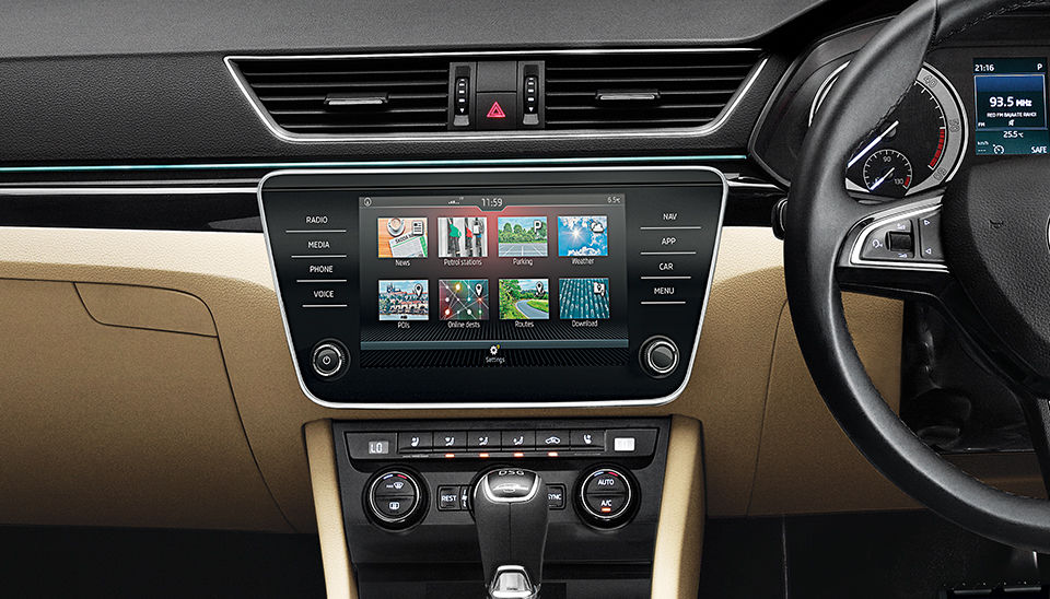 Inside, Superb now gets a Virtual Cockpit fully digital instrument cluster with a 10.25-inch configurable display, bigger Phone Box for wireless charging and improved cellular reception, puddle lamps with Skoda logo, etc.