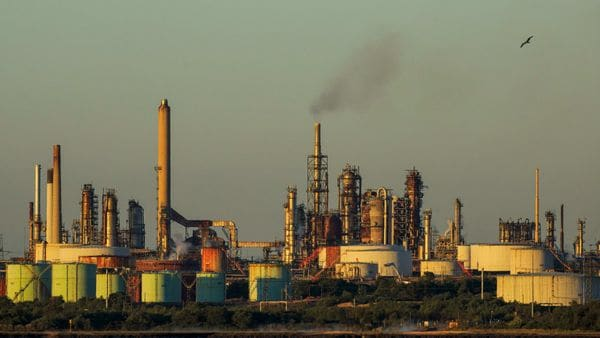 File photo: The Esso Fawley Oil Refinery, operated by Exxon Mobil Corp., stands in Fawley, U.K., on Thursday, May 14, 2020. (Bloomberg)
