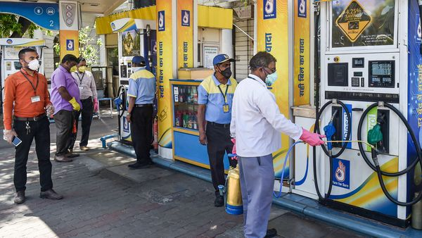 File photo: The daily price revision exercise could be started even if lockdown is taken into fifth phase from June once the government gives its nod. (PTI)