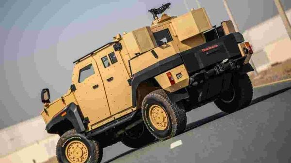 The Mahindra ALSV can withstand 7.62 x 51mm bullets and HE36 hand grenade blasts.