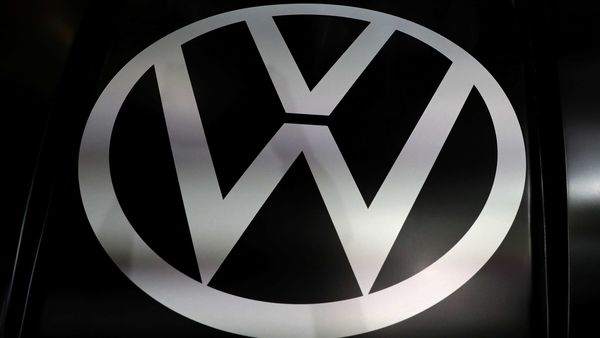 File Photo: The logo of Volkswagen is pictured at the LA Auto Show in Los Angeles, California, U.S. (REUTERS)