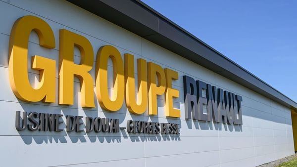 This picture shows the Renault factory in Douai (North of France) on May 20, 2020.