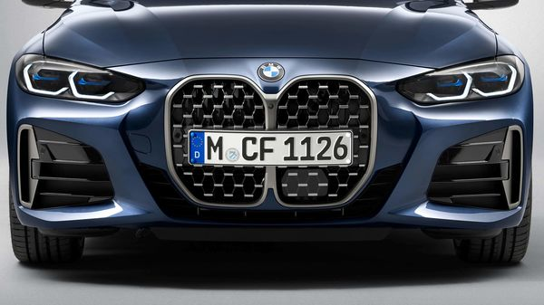 The redesigned grille appears enormous. Such big kidney grille was introduced by the company on the Concept 4 and the all-electric i4.