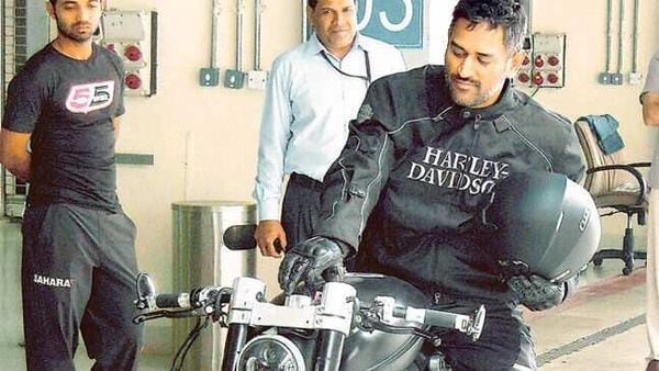 Former Indian captain loves to modify his own bikes, reveals wife Sakshi Dhoni. (Photo courtesy: Twitter/@msdhoni)