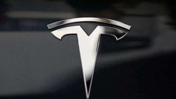 File photo: A Tesla logo. (REUTERS)