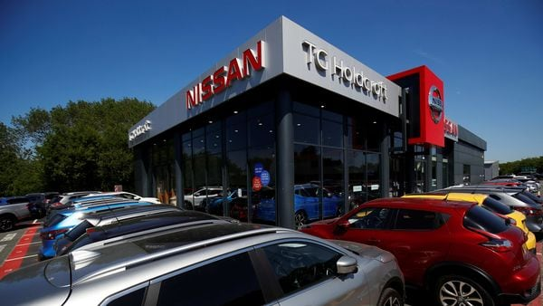 A Nissan car dealership is pictured in Northwich, following the outbreak of the coronavirus disease, Northwich, Britain, May 30, 2020. (REUTERS)