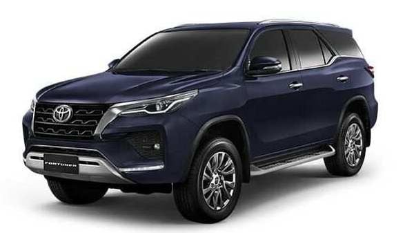 2021 Toyota Fortuner which has been launched in the Thai market.