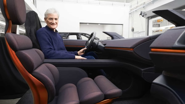 The enormity of the electric SUV also allowed to fit in three rows of seats. It had a 150kWh lithium-ion battery installed across the floor with quick charging cells. (Photo courtesy: dyson.co.uk)
