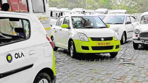 Ola cabs pictured. Representational Image.