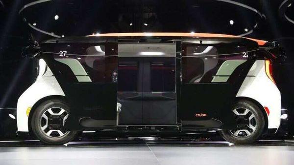 The Cruise Origin autonomous vehicle, a Honda and General Motors self-driving car partnership, is seen during its unveiling in San Francisco, California, US.
