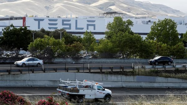 File Photo: Tesla's electric car factory in Fremont employs nearly 10,000 workers. (REUTERS)