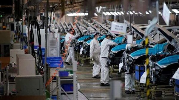 File photo of Honda workers working on a production line inside a company facility in China. (REUTERS)