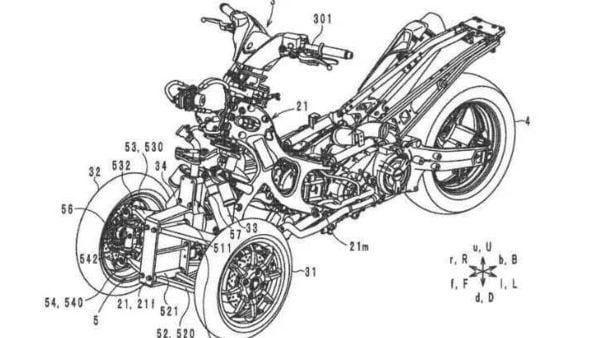 Yamaha three-wheeled motorcycle