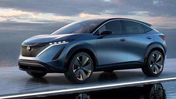 The concept version of the Nissan Ariya electric SUV. (Photo courtesy Nissan USA)