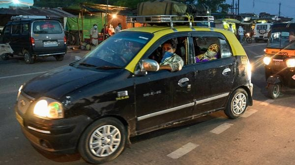 File photo: Government's recent order allows Kaali-Peeli taxis only for essential services. (PTI)