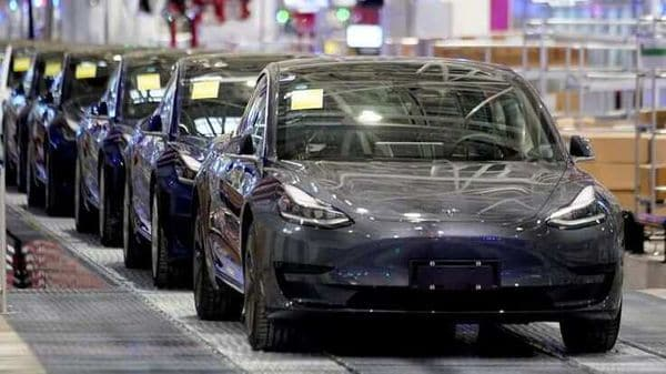 FILE PHOTO: Tesla China-made Model 3 vehicles are seen during a delivery event at its factory in Shanghai, China January 7, 2020. (REUTERS)