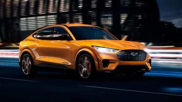 Ford is introducing Cyber Orange Metallic Tri-Coat for Mustang Mach-E GT.