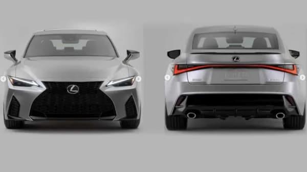 Leaked images of the 2021 Lexus IS sedan exterior. (Photo courtesy: Instagram/allcarnews)