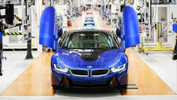 Last Of Bmw I8 Hybrid Sports Cars Rolls Out Of Leipzig Plant