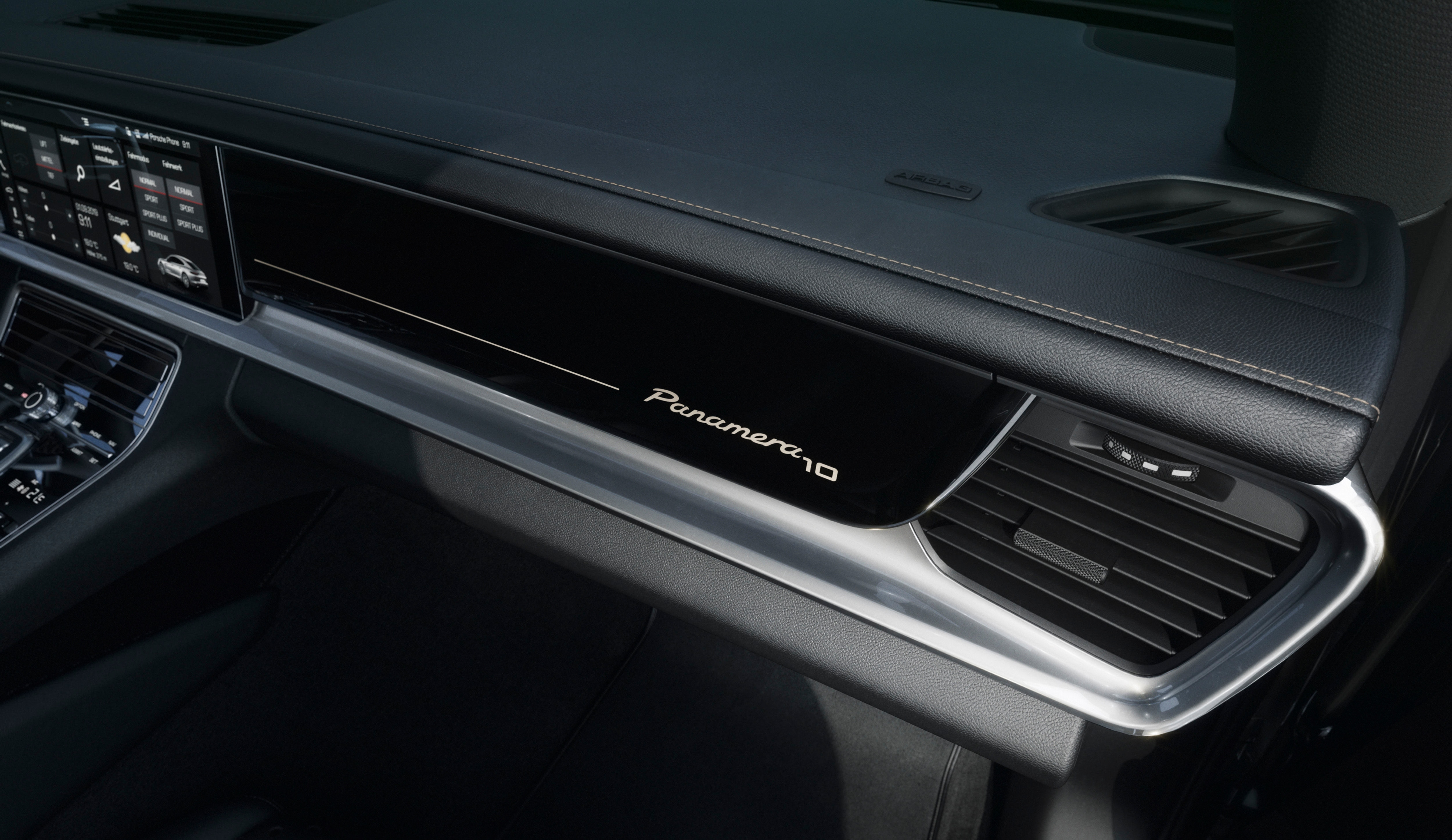 The logos also adorn the front passenger trim panel. In terms of the additional comfort and safety features, the special edition of Panamera gets LED matrix headlights including PDLS Plus, Lane Change Assist, Park Assist, including a reversing camera.
