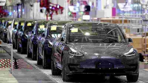 File photo of Tesla Model 3 cars used for representational purpose. (REUTERS)