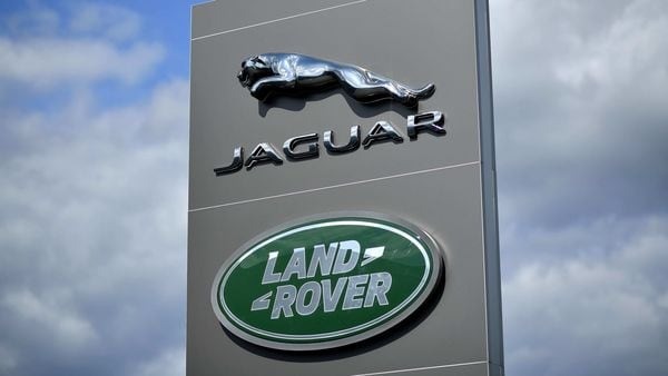 File photo: A logo is pictured outside a Jaguar Land Rover new car show room in Tonbridge, south east England. (AFP)