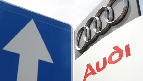 A logo of the German car manufacturer Audi is pictured at a dealership in Kiev, Ukraine June 9, 2020. (REUTERS)