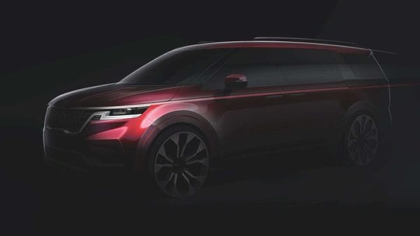 Design sketch of the fourth generation Kia Carnival MPV teased by the carmaker.