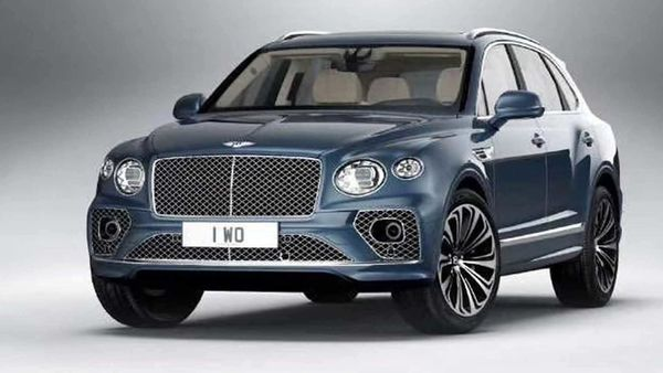 The leaked image of the Bentley Bentayga SUV facelift. (Photo courtesy: Instagram/wilcoblok)