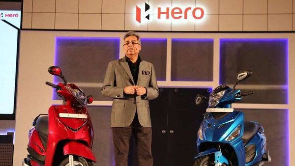 Pawan Mujal, Chairman, MD & CEO of Hero MotoCorp, during a product launch event. Image Courtesy: Hero MotoCorp