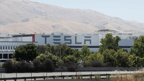 Photo of the Tesla factory seen in Fremont, California, US. (REUTERS)