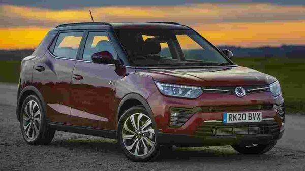The Ssangyong Tivoli facelift model, which shares its underpinnings with the Mahindra XUV300.