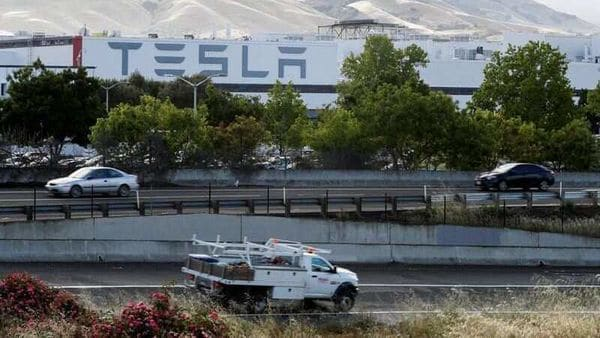File photo: An outside view of Tesla plant in Fremont, California. (REUTERS)