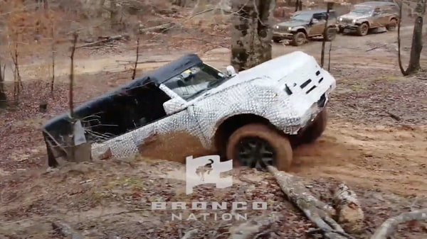 Photo of the new Ford Bronco SUV undergoing mud testing, (Photo courtesy: YouTube/The Bronco Nation)