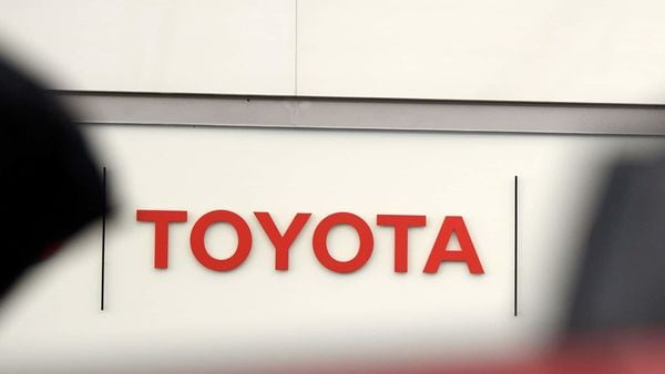 Signage for Toyota Motor Corp. is displayed at the company's head office in Tokyo, Japan. (Bloomberg)