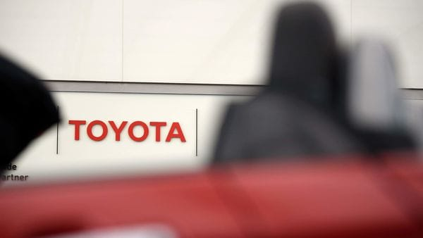 Signage for Toyota Motor Corp. is displayed at the company's head office in Tokyo, Japan, on Thursday, Feb. 6, 2020. (Bloomberg)